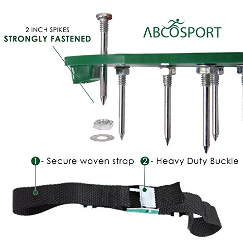 Lawn Aerator Spike Shoes – For Effectively Aerating Lawn Soil – Comes with 3 Adjustable Straps with Metallic Buckles – Universal Size that Fits all – For a Greener and Healthier Garden or Yard. by Abco Tech (Image #3)