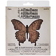 Sizzix Bigz Die with A2 Texture Fades Folder by Tim Holtz, Layered Butterfly