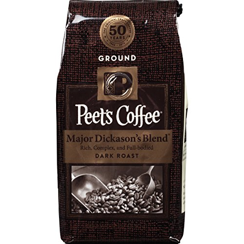 Peet's Ground Coffee, Major Dickason's Blend, Dark roast, 12-Ounce