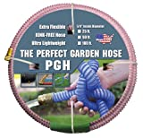 "Tuff-Guard The Perfect Garden Hose, Kink Proof Garden Hose Assembly, Pink, 5/8"" Male X Female GHT Connection, 5/8"" ID, 50 Foot Length"