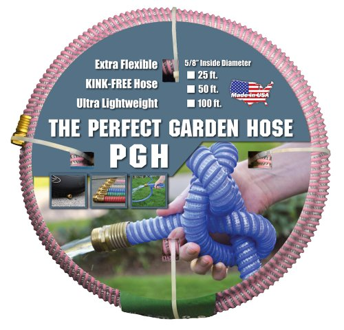 Tuff-Guard The Perfect Garden Hose, Kink Proof Garden Hose Assembly, Pink, 5/8