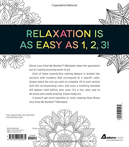 Amazon Stress Less Color By Number Mandalas 75 Coloring Pages