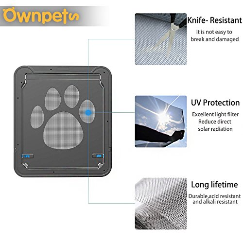 OWNPETS Dog Screen Door, Lockable Pet Screen Door, Magnetic Self-Closing Screen Door with Locking Function, Sturdy Screen Door for Dog Cat by OWNPETS (Image #7)