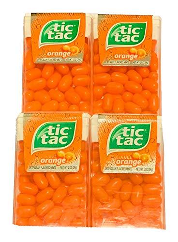 (Tic Tac Orange Flavored Mints | Fruit Flavored Mints | Low Calorie Mints | 4 Pack | 1 oz)