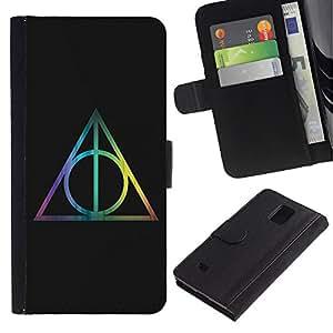 iBinBang / Flip Funda de Cuero Case Cover - Matemáticas Negro - Samsung Galaxy Note 4 SM-N910