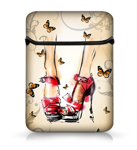 """NEW Fashion Red Heels 11.6"""" 12"""" 12.1"""" Mini Soft Neoprene Laptop Bag Flip Sleeve Case Netbook Flip Cover Pouch For Samsung Google 11.6"""" Chromebook Tablet PC/Alienware M11x, Macbook Air, HP ,Acer/Dell Latitude D420, D430, IM12 HP Elitebook/ Samsung ATIV Smart PC PRO 700T Tablet/Acer Aspire One,new 11.6 Macbook Air / Lenovo ThinkPad X220 X220i / Sony Laptop"""