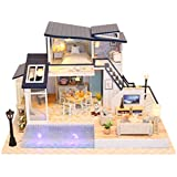 PSFS DIY Wooden House Furniture Handcraft Miniature Box Creative Gift Toy 3D Puzzle Doll House ,Kids Gift for Ages 3+Factory Outlet (as Shown)
