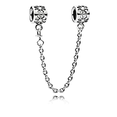 4a3162c18 Bluebird Charms Floral Safety Chain DIY Fits Pandora Bracelets 925 Sterling  Silver Beads: Amazon.co.uk: Jewellery