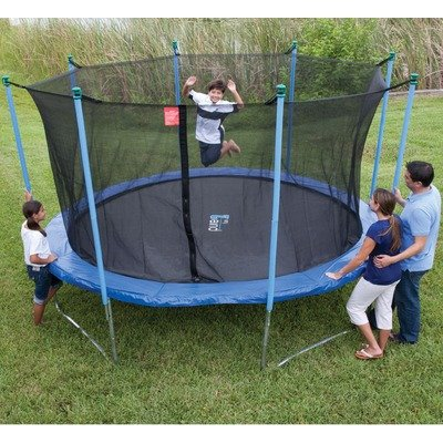 14ft Outdoor Trampoline And Enclosure Set