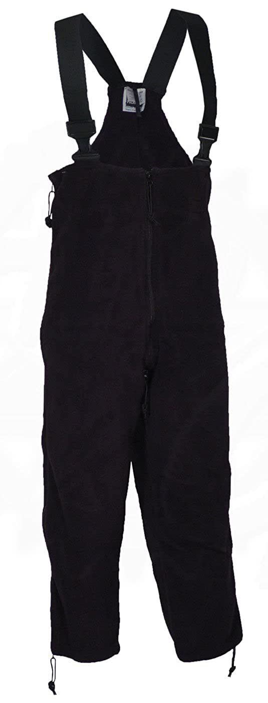 U.S. Government Contractor Polartec 200 Fleece Overalls, Extreme Cold - Black - Military Issue