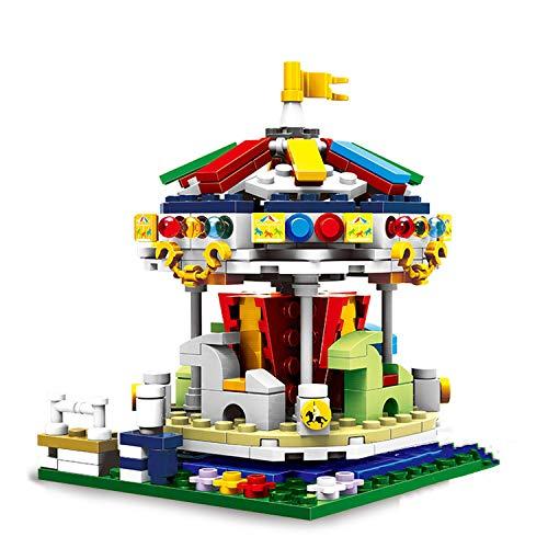 (Bestoyz City Children Playground Building Set, Amusement Park Series, Merry Go Round Building Bricks Kit, Building Blocks for Kids Age 6 7 8 & Above)