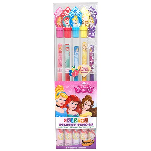 Disney Princess Colored Smencils 5-Pack of Scented Coloring Pencils