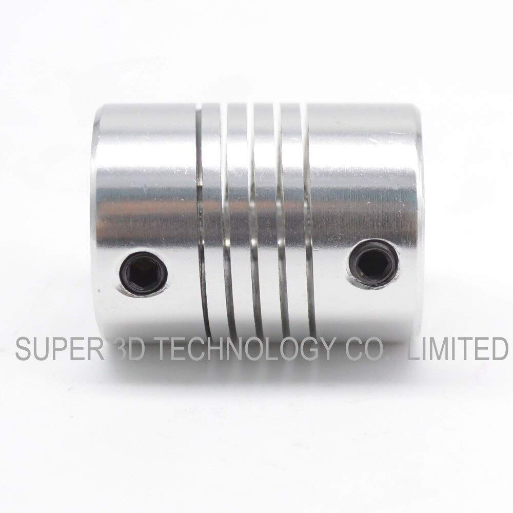 3D Printer 5x5//5x6//5x8//5x10//6.35x8//8x8//10x10 Motor Coupler Flexible Coupling Multiple Options OD/&Height Whoelsale Connectors 635mm to 8mm