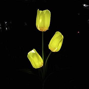 Fait Forme Extérieur Soie De 3clifewaren Veilleuse En Tulipe Solaire 7IYf6yvbg