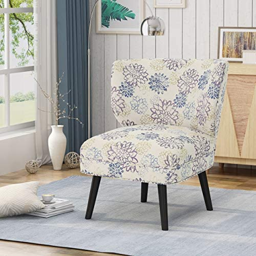 Christopher Knight Home Roger Modern Farmhouse Accent Chair, Purple Floral, Print