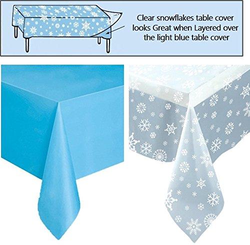 light blue tablecloth - 9