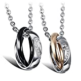 Best Necklace Two Pieces - Cupimatch 2 Pieces Couples Necklace with Stainless Steel Review