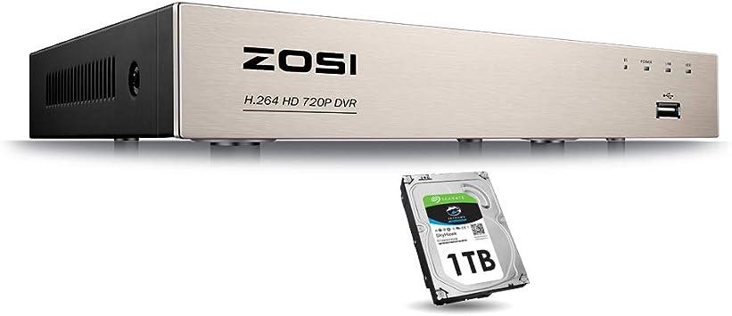 Zosi 8-Channel HD caméra vidéo de sécurité système 1080N CCTV DVR système avec 4 X 720P