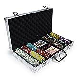 Poker Chip Case, Claysmith 300ct Showdown Texas Holdem Travel Poker Chip Set Case