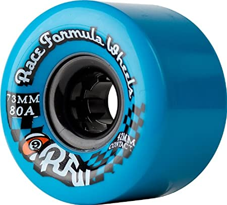 Sector 9 Race Formula Skateboard Wheels, Blue, 73mm 80A, (Pack of 4)