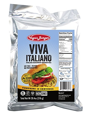 Vegan Burger  18 Serving Bag   Viva Italiano Mix   Long Term Storage 10  Years