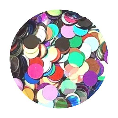 Glitter Pot - ( 285 Rainbow Riches Dots ) Chunky Festival Glitter Shape Glitter Eyes Eye shadow Nail Art Face And Body