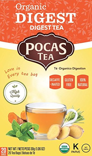 - Pocas Organic Tea, Digest, 1.06 Ounce, 20 Count (Pack of 6)