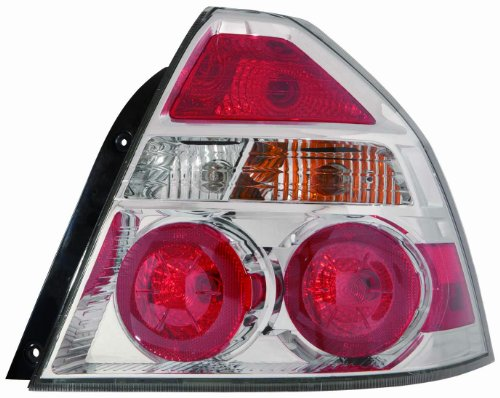 Chevrolet Aveo Light - Depo 335-1932L-ASN Chevrolet Aveo Driver Side Tail Lamp Assembly with Bulb and Socket