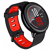 Autoday Bluetooth Smart Watch Amazfit Xiaomi 1.34 inches Round Touch Screen GPS + GLONASS Water-resistant Smartwatch Sleep/Heart Rate /Calories/Speed Monitor Pace Sports Watch (Ship From US) (Black)