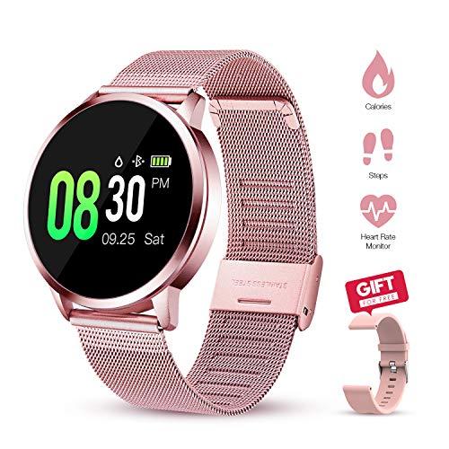 GOKOO Smartwatch Mujer Rosa Reloj Inteligente de Fitness a Prueba de Agua IP67 Pulsera Deportiva Inteligente con Monitor…