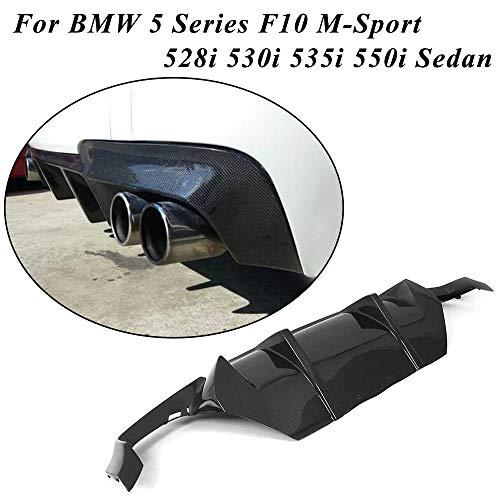jcsportline fits BMW 5 Series F10 M-Sport Bumper 528i 530i 535i 550i Sedan 2012-2016 Carbon Fiber Rear Diffuser (DM Style)