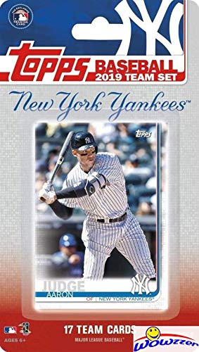 (New York Yankees 2019 Topps Baseball EXCLUSIVE Special Limited Edition 17 Card Complete Team Set with Aaron Judge, Gleyber Torres & Many More Stars & Rookies! Shipped in Bubble Mailer! WOWZZER!)