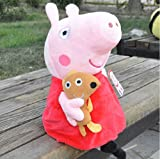 New Peppa Pig Stuffed Soft Figures Toy Plush Doll 19CM/7.5inch Kids Gift offers