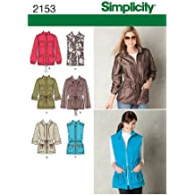 Simplicity Sewing Pattern 2153: Misses' Jackets and Coats, Size U5 (16-18-20-22-24)