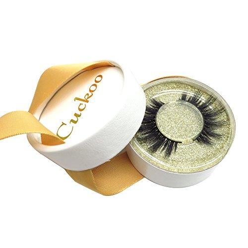 Cuckoo Lashes 100% Handmade Cruelty Free 3D Faux Mink False Eyelashes  Korean Silk PBT Fiber Lashes Color of the Package is Random 1 Pair D28  Cuckoo