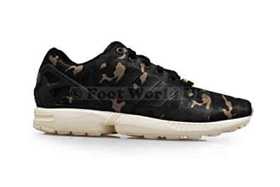 Adidas pour homme – ZX Flux Camo * Rare * – Vert Noir - - Colour