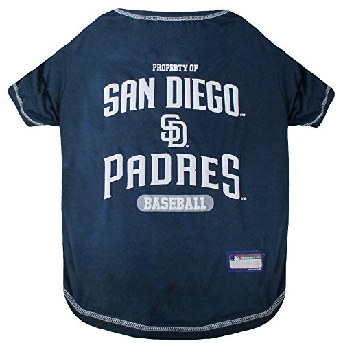 Padres T-shirts - MLB SAN Diego Padres Dog T-Shirt, Medium. - Licensed Shirt for Pets Team Colored with Team Logos