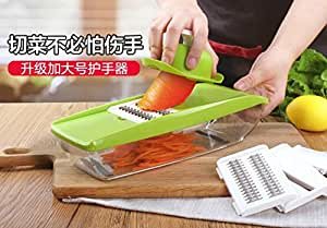 Function in the kitchen, chopping artifacts, potato with shredded home grater, slice manually wipe wire