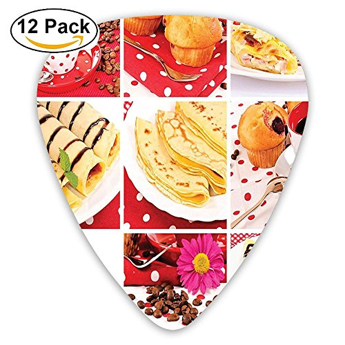 Newfood Ss Sweet And Salted Photo Muffins Cupcakes Coffee Beans Collage Artwork Guitar Picks 12/Pack Set