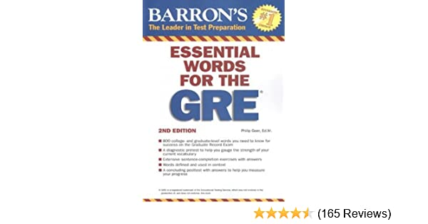 Amazon essential words for the gre barrons gre amazon essential words for the gre barrons gre 9780764144783 philip geer books fandeluxe Images