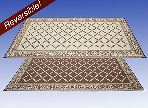 Garden and Outdoor AdvenGO Reversi Mats (9′ x 12') Large Mat and Rug for Outdoors, RV, Patio, Trailer & Camping – Heavy Duty, Weather… outdoor rugs