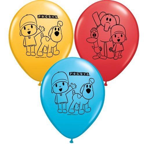 Pocoyo & Friends Qualatex 11 inch Mixed Latex Balloons x 25 by Qualatex