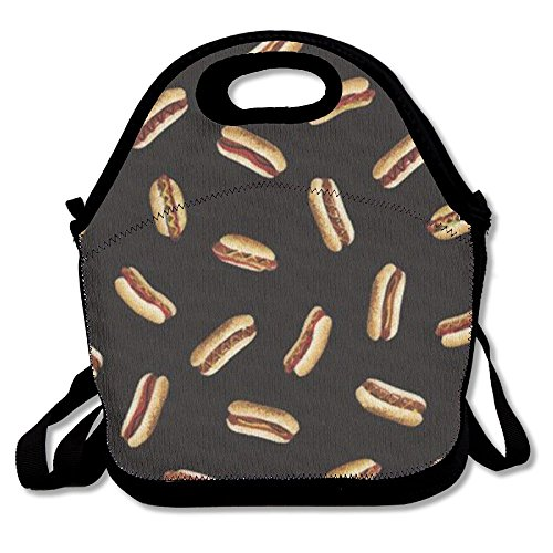 MIPU SHANGMAO Delicious Hot Dog Lunch Bag Insulation Picnic Bag Insulated Zipper Cooler Bag