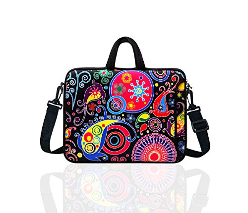 12-Inch Laptop Shoulder Bag Sleeve Case With Handle For 11.6 12 Netbook/Macbook Air Pro (Classic Colourful)