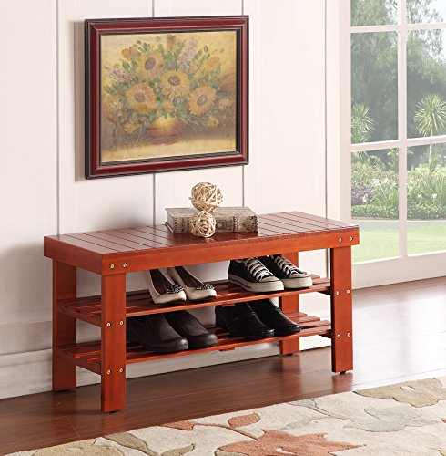 Durable Solid Wood Storage Bench product image