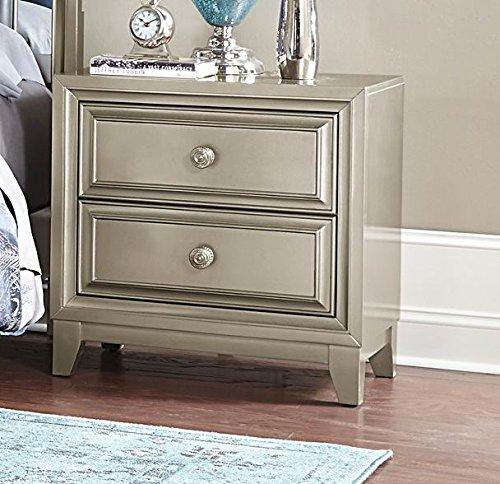 Gray Nightstands & Bedside Tables: Light & Dark Gray, Wood ...