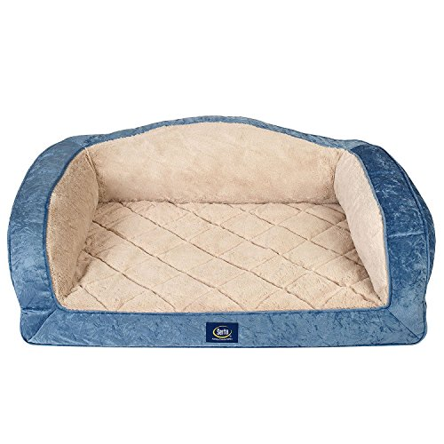 Serta Perfect Sleeper Camel-Back Couch Pet Bed 36