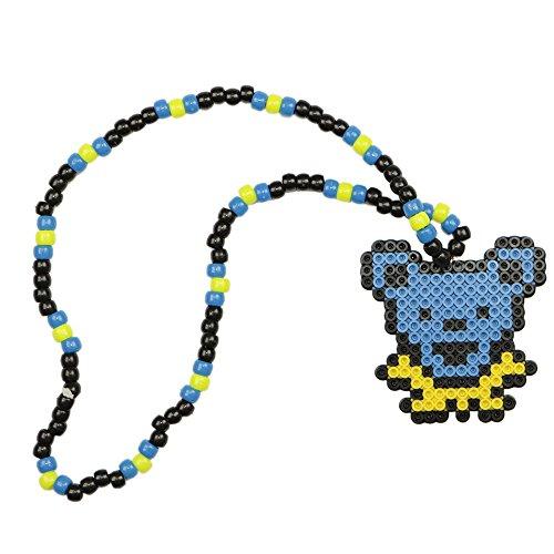 Jack Skellington Skeleton Kandi Necklace, Perler Necklace, Rave Accessories, Beaded Necklace