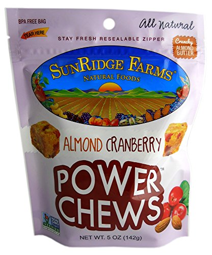 SunRidge Farms Almond Butter Cranberry Power Chews, 5 Ounce (Pack of 12)