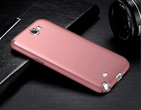 Protecteur d/écran en Verre tremp/é, Samsung Galaxy Note 2 Coque Anti-Empreintes digitales Housse Ultra Mince /& L/éger Anti-Rayures /Étui en Plastique Rose enti/èrement Protecteur Dur Case